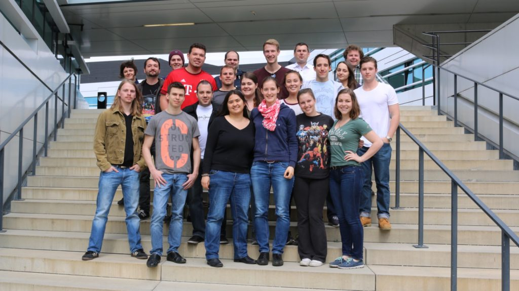 The students from Munich, Vienna, and USA
